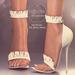 (AMD) Ruffles Heels - White (wear to unpack)