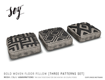 Soy. Bold Woven Floor Pillow [addme]
