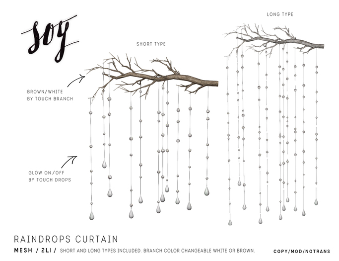 Soy. Raindrops Curtain [Addme]