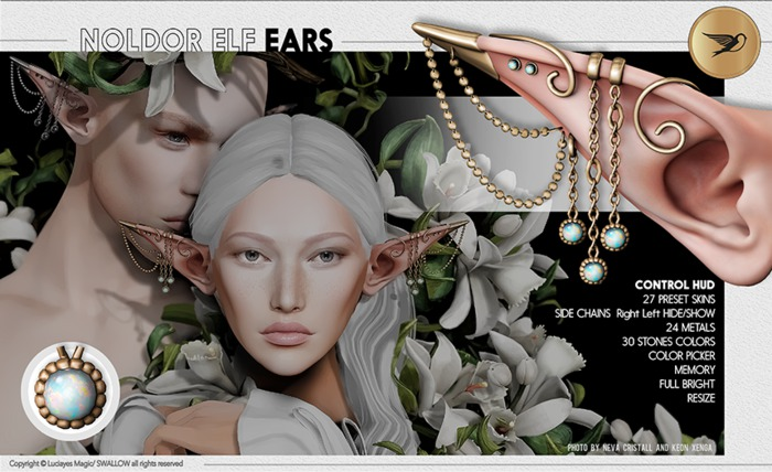 ^^Swallow^^ Noldor Elf Ears (Wear)
