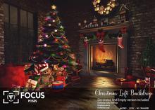 [ Focus Poses ] Christmas Loft Backdrop