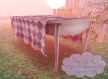 Tea party table - with texture changer cloth