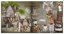 dust bunny . woodland dreams . penrose cottage . boxed . RARE