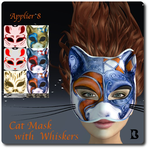 Blackburns Free Cat Mask Whiskers & Applier