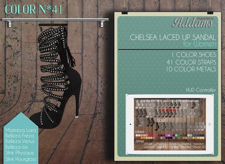 "Addams ""Chelsea"" Laced Up Sandals -Maitreya, Belleza, Slink #41"