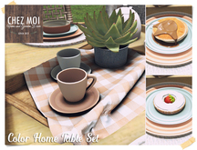 Color Home Table Set ♥ CHEZ MOI