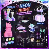 MIWAS / Neon night Heart Neon Chocker #Black