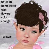 !!! Afa Hair TD Bento Head Xenia brown