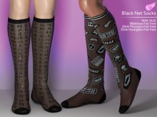 [VO.Z] Black Net Socks