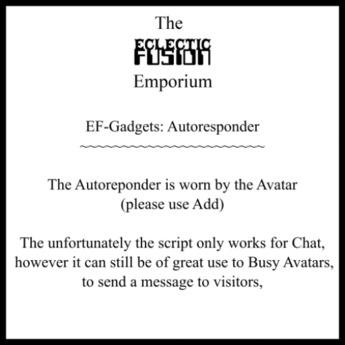EF-Gadgets: Autoresponder v1.10