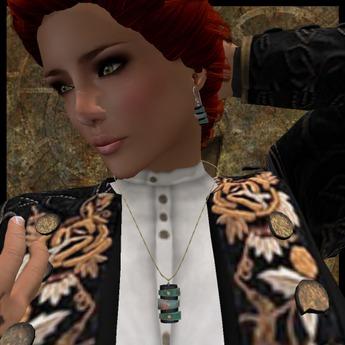 EF-Jewellery: Patina Pendant & earrings