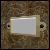 EF-Misc: Small Brass Plaque