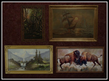 RE Rustic Art Collection - Framed Painting Set