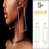 Glamazon Square Earrings