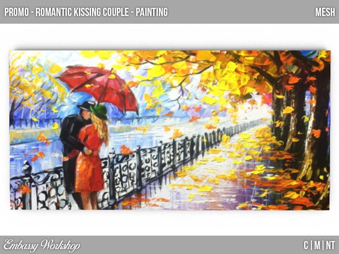 EW - Promo - Romantic kissing Couple - Painting