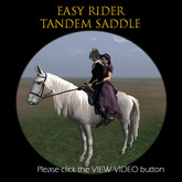 NEW! Take your honey or friend for a ride! EASY RIDER Lite Tandem Saddle