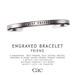 Cae :: Engraved :: Bracelet :: Friend [bagged]