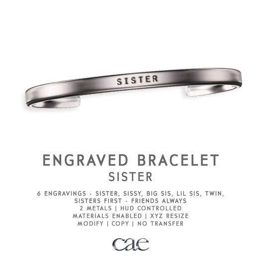 Cae :: Engraved :: Bracelet :: Sister [bagged]
