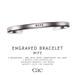 Cae :: Engraved :: Bracelet :: Wife [bagged]