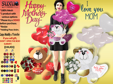 [SuXue Mesh] Teddy Bear - Happy Mother Day + HUD / Resize