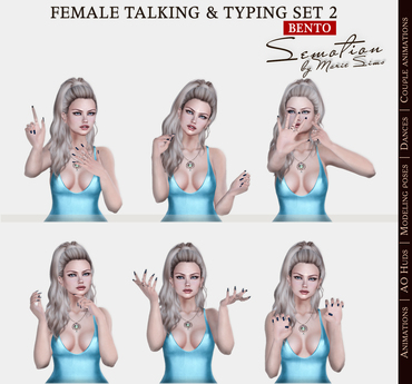 SEmotion Female Bento Talking & Typing Set 2 - 5 animations