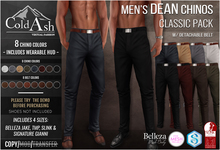{COLD-ASH} Mens MESH DEAN Chinos (CLASSIC PACK)