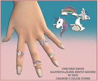 Candy Crunchers - Unicorn Rings - Maitreya bento W/HUD