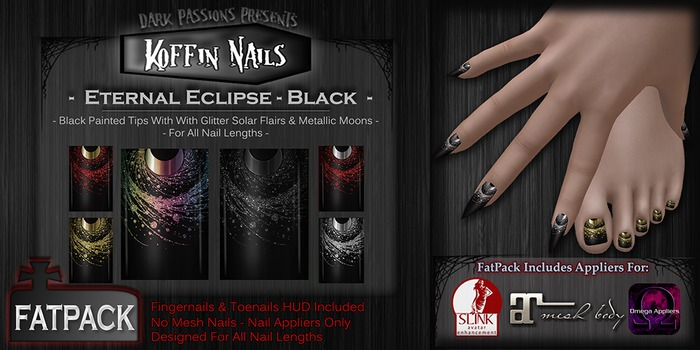 DP - Koffin Nails - FatPack - Eternal Eclipse - Black