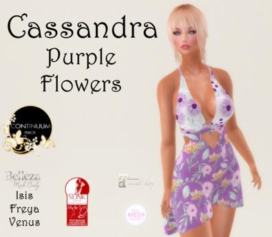 Continuum Cassandra Purple flowers dress