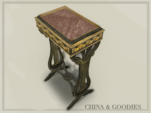 Bronze ebony side table -C&G-