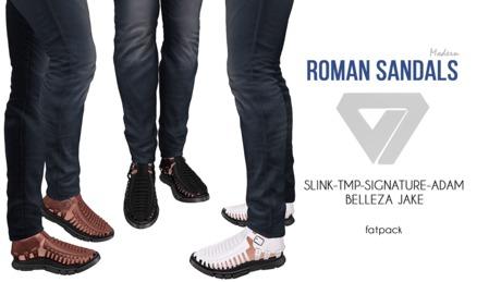 ILLI - [SLink,Signature Gianni,Belleza Jake,TMP,Adam] Modern Roman Sandals (HUD Driven) PROMO