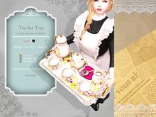 *:..Silvery K..:*Tea set tray(Square rose)
