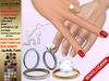 [SuXue Mesh] FATPACK Kumsal For Bento & Classic Hands UnRigged Wedding Rings Belleza Maitreya Slink TMP Hud Resize F & M