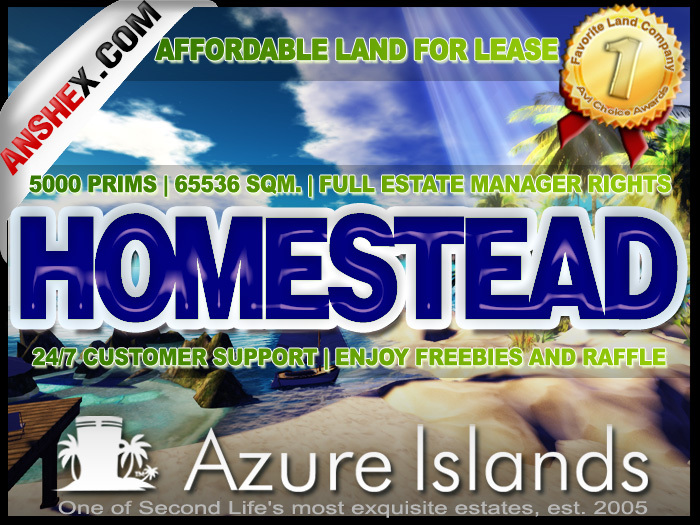 7499 L$/week - HOMESTEAD with FULL RIGHTS