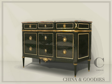 Ebonized Jansen commode  - C&G -