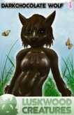 Luskwood Dark Chocolate Easter Wolf Furry Avatar (Female)  - tagEaster