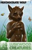 Luskwood Milk Chocolate Easter Wolf Furry Avatar (Male)