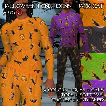 R(S)W Halloween Long Johns - Jack Cat