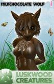 Luskwood Milk Chocolate Easter Wolf Furry Avatar (Female)