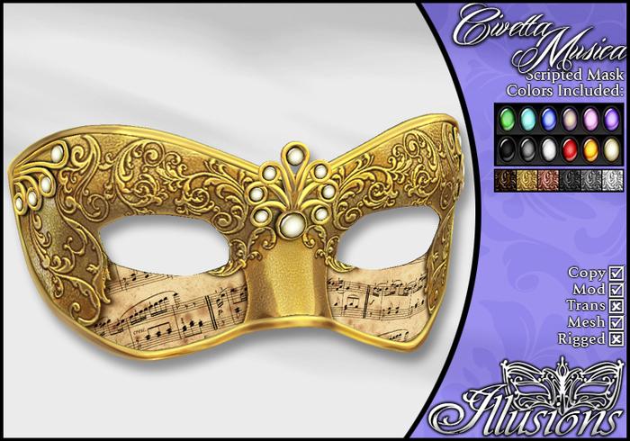 *~*Illusions*~* Civetta Musica Mask