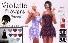 Continuum Violetta Flowers Dress