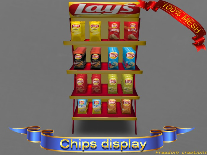 Mesh chips display V2-Freedom creations