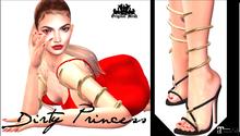 DIRTY PRINCESS-  Serpent Actress Princess Heels w/Hud