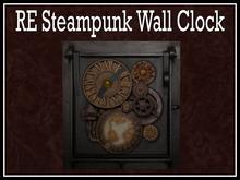 RE Steampunk Wall Clock
