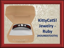 KittyCatS! Jewelry - Collar Ruby (HOUNDSTOOTH)