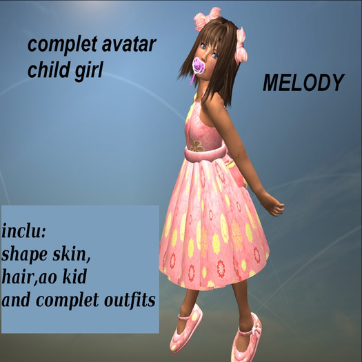 avatar complet child girl MELODY