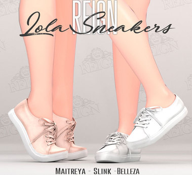 REIGN.- LOLA SNEAKERS- FATPACK, MAITREYA, SLINK, BELLEZA, FLATS, PLATFORM, ORIGINAL MESH, SNEAKER