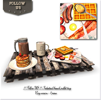 LIMITED OFFER !! Follow US !! Industrial brunch pallet tray COPY version