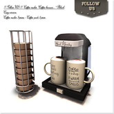 "!! Follow US !! Coffeemaker ""Coffee because.."" black COPY box"