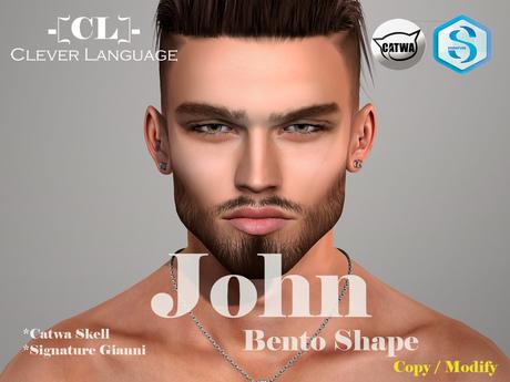 - [Clever Language]- John Bento shape (Catwa Skell)